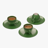 3d model turkish coffee set
