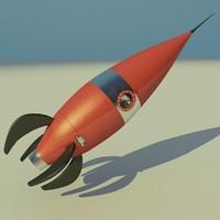 3d retro rocket