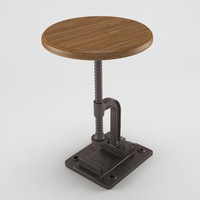 x industrial coffee table chair