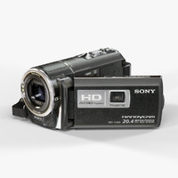 low-poly sony hdr-pj580 black 3d max