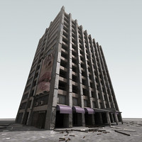 3d abandoned building
