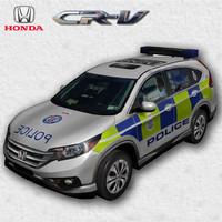 3d honda cr-v 2011 police model