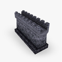 3ds max castle wall