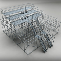 judge scaffolding 3d max