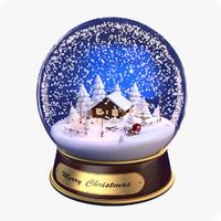 max christmas snow globe