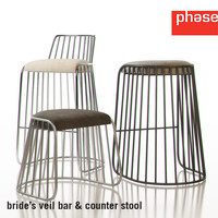 Phase Bride's Veil Bar & Counter Stool