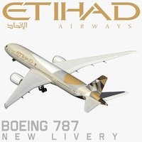 3d model boeing 787 etihad new