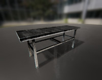 morgue bed 01 3d model