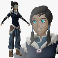 3d model korra legend nickelodeon