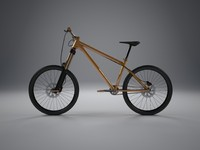hardtail mountain bike 3d model