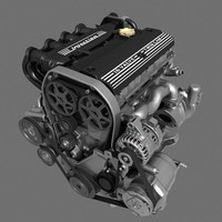 4 cylinder engine 3d max
