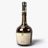courvoisier napoleon bottle 3d model