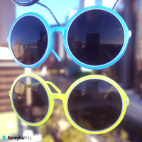 3d model eyewear plastic sunglasses
