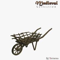 wheelbarrow ready medieval 3ds