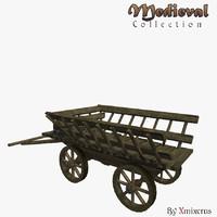 medieval cart 3d fbx