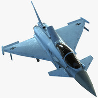 3d ready eurofighter typhoon fighter model