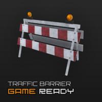 3d ready traffic barrier model