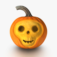 skull pumpkin 3d x