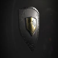 3d model dragon shield