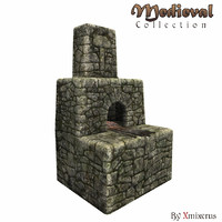 forge oven medieval buildings 3d obj