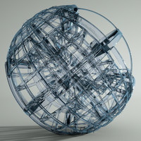3d model of glass sculpture