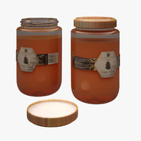 3d honey jar model