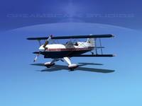 3d model of propeller acro sport biplane