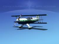 propeller acro sport biplane 3d 3ds