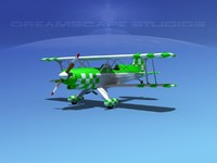 3d propeller acro sport biplane