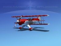 3d model of acro sport plane biplane