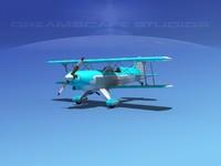 propeller acro sport biplane 3ds