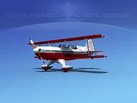 3d model acro sport biplane v01