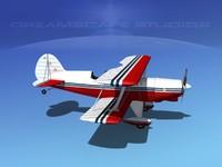 acro sport biplane v01 3d model