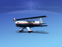 3d model acro sport biplane ii