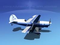 3ds max acro sport biplane ii