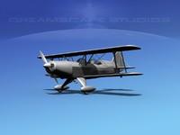 acro sport biplane vbm 3d dwg