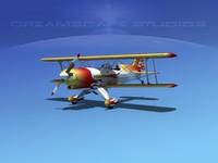 3d model propeller acro sport biplane
