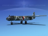 3d model of arado ar blitz bomber