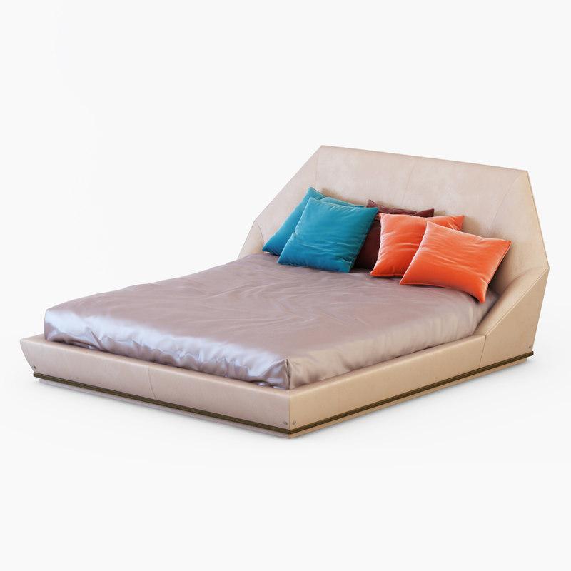 03 file formats fbx obj italian furniture longhi beautiful renderings - Bed Longhi 3d Max