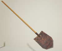 Low Poly Long Spade Shovel