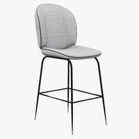 3d model bar stool modern