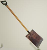 short flat shovel 3d max