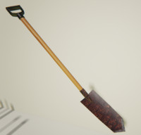 3d short trench shovel model