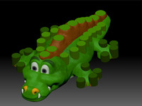 crocodile 3d 3ds