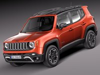 3d 2015 jeep renegade