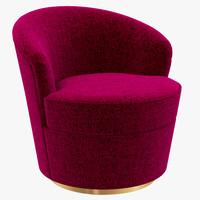 floradora swivel chair 3d max