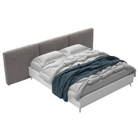 lugano bed 3d model