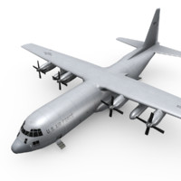 3d model of c-130 hercules transport