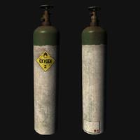 3d model oxygen cylinder