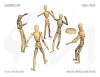 mannequin animate obj free